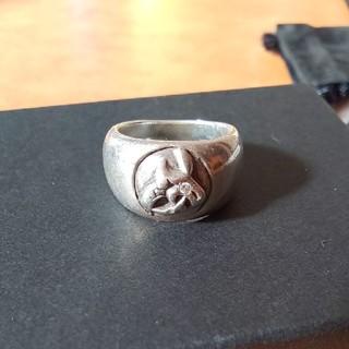 クロムハーツ(Chrome Hearts)のクロムハーツ ケルティックドッグ リング ダイヤカスタム ギャランティ附属(リング(指輪))