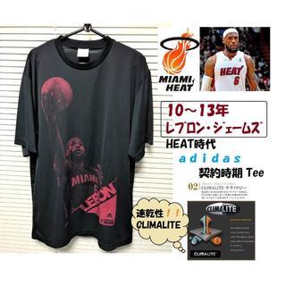アディダス(adidas)のadidas LeBron James MIAMI HEAT時代 Tee / 黒(Tシャツ/カットソー(半袖/袖なし))