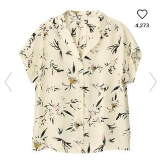 ジーユー(GU)のフラワープリントオープンカラーシャツgu (シャツ/ブラウス(半袖/袖なし))