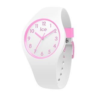アイスウォッチ(ice watch)の新品 iceウォッチ キッズ腕時計 014426 軽量 防水 ピンク×ホワイト(腕時計)