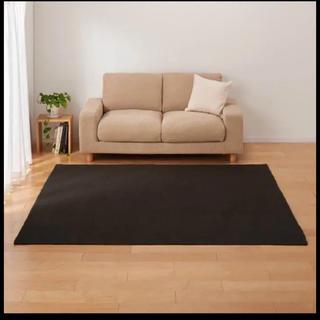 ムジルシリョウヒン(MUJI (無印良品))の無印良品 120cm×180cm インド綿手織ラグ 絨毯(ラグ)