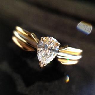カルティエ(Cartier)のカルティエ VVS1 Fカラー ダイヤモンド K18 指輪 リング(リング(指輪))