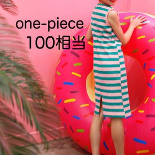 韓国子供服♡リブ タンク ワンピース(ワンピース)