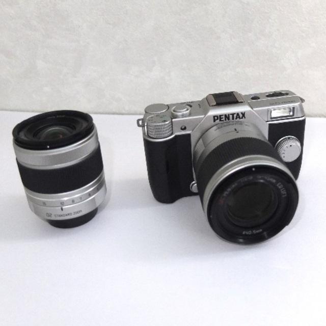 PENTAX(ペンタックス)のPENTAX Q10 ダブルズームセット 02  06 (OPで03追加可能) スマホ/家電/カメラのカメラ(ミラーレス一眼)の商品写真