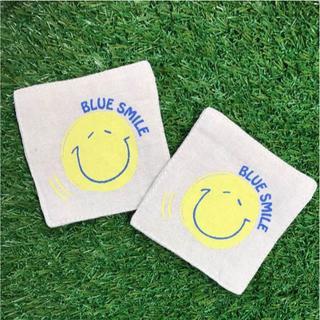 BLUE SMILE コースター 2枚セット(その他)
