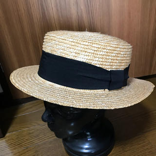 ケービーエフ(KBF)の美品 KBF 麦わら帽子 カンカン帽 アーバンリサーチ(麦わら帽子/ストローハット)