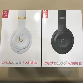 ビーツバイドクタードレ(Beats by Dr Dre)の無印良人さま専用【未開封品】beats studio3 wireless 2台(ヘッドフォン/イヤフォン)