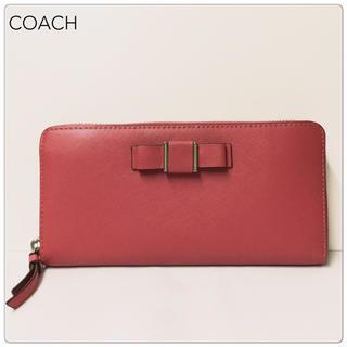 コーチ(COACH)の【値下げ 未使用】COACH レザー ラウンドファスナー長財布(財布)