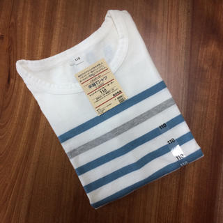 MUJI (無印良品) - 新品未使用★無印良品 ボーダー Tシャツ 110