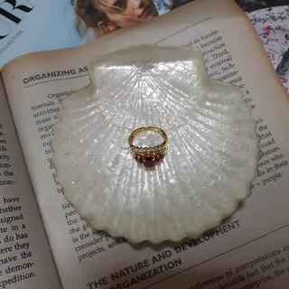 ロキエ(Lochie)の指輪 ルビー風 ゴールド ビンテージリング 古着 ビンテージ アクセサリー(リング(指輪))