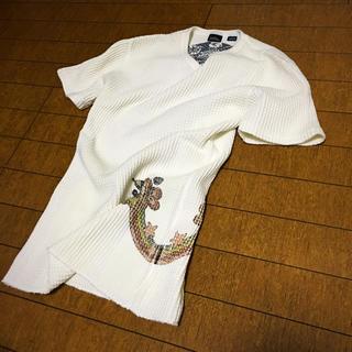 アルファ(alpha)のALPHA×Perfect Blue ワッフルTシャツ ホワイト Mサイズ(Tシャツ/カットソー(半袖/袖なし))