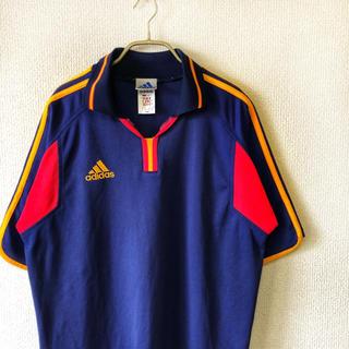 アディダス(adidas)の【90s vintage】adidas フットボールシャツ XL メンズ 古着(Tシャツ/カットソー(半袖/袖なし))