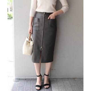 ノーブル(Noble)の2018SS NOBLE C/Pe ダブルクロスフープジップタイトスカート(ひざ丈スカート)