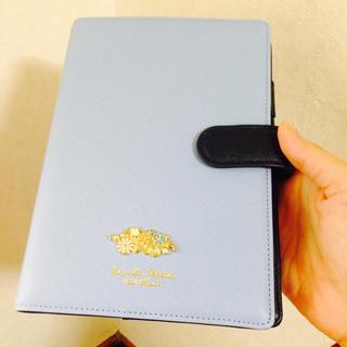 サマンサタバサ プチチョイス 手帳カバー ライトブルー水色xネイビー紺 新品