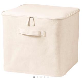 ムジルシリョウヒン(MUJI (無印良品))のポリエステル綿麻混 ソフトボックス フタ式 L(ケース/ボックス)