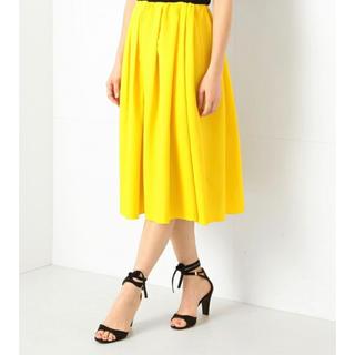 デミルクスビームス(Demi-Luxe BEAMS)のDemi-luxe BEAMS イエロースカート(ひざ丈スカート)