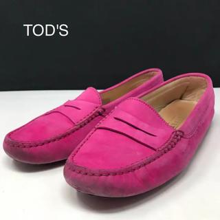 トッズ(TOD'S)の正規品 トッズ フェラーリコラボ ドライビング シューズ ピンク(ローファー/革靴)