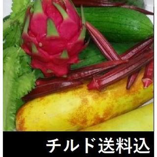 チルド送料込 22品 島野菜&果物セット ドラゴンフルーツ・ゴーヤ・四角豆等(野菜)