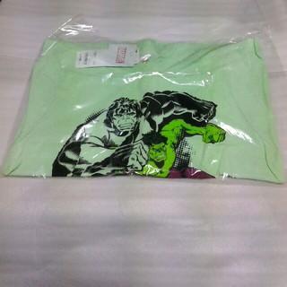 ジーユー(GU)のGUマーベルコラボTシャツ半袖キッズ130サイズ 超大型店のみ販売中(Tシャツ/カットソー)