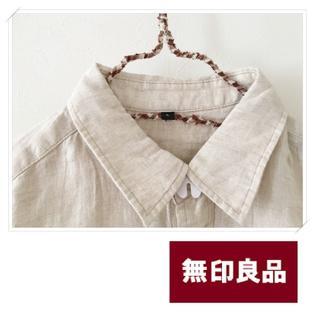 MUJI (無印良品) - * 無印良品(MUJI)シンプルで使える♪リネンの生成り色シャツ