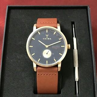 トリワ(TRIWA)の大人可愛い ✨ トリワ ファルケン ネイビー メンズ(腕時計)