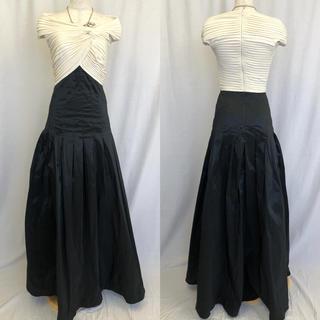 タダシショウジ(TADASHI SHOJI)のタダシショージ バイカラー 切り替え ロング フレア ドレス タフタ(ロングドレス)