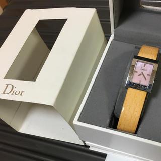ディオール(Dior)のChristianDior ピンクシェル腕時計 保証書等付属品付き(腕時計)