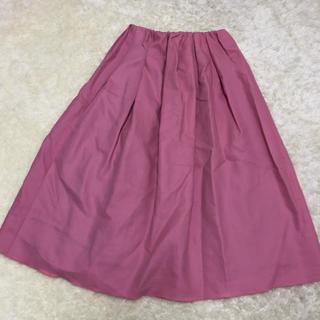 デミルクスビームス(Demi-Luxe BEAMS)のデミルクスBEAMS ピンクスカート フレア サイズ36(ひざ丈スカート)