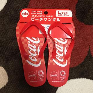 コカコーラ(コカ・コーラ)のコカコーラ ビーチサンダル 新品 未使用(ビーチサンダル)