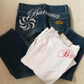 バナナセブン(877*7(BANANA SEVEN))のBANANA SEVEN メンズ長袖Tシャツ&デニムセット  ‼️本日値下げ‼️(デニム/ジーンズ)