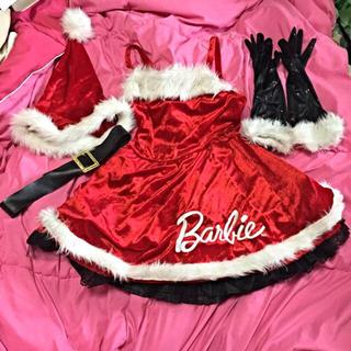 バービー(Barbie)のyuiさん専用Barbie サンタ4点(ミニワンピース)