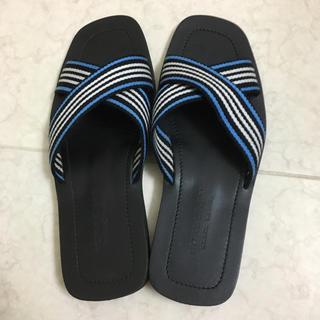 バーバリーブラックレーベル(BURBERRY BLACK LABEL)の超美品 バーバリー ブラックレーベル サンダル 黒 3 メンズ シューズ 靴(サンダル)