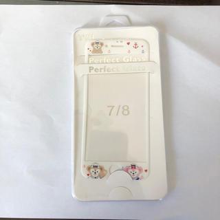 ディズニー(Disney)の新品 強化ガラスフィルム ダッフィ iPhone7.8(保護フィルム)