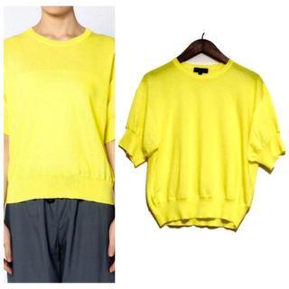 ドゥロワー(Drawer)の【美品】Drawer ドゥロワー 半袖コットンニット 2 (Tシャツ(半袖/袖なし))