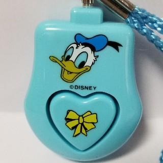 ディズニー(Disney)の防犯ブザー ドナルドダック (電池交換済)(防災関連グッズ)