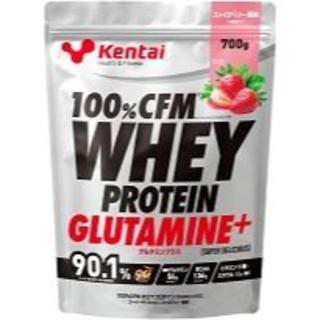 ケンタイ(Kentai)のkentai 100%CFMホエイグルタミン デリシャスストロベリー700g(プロテイン)