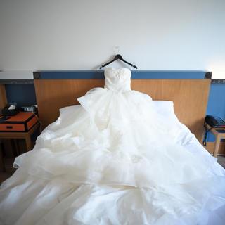 ヴェラウォン(Vera Wang)のWhite by Vera Wang チュールウェディングドレス(ウェディングドレス)