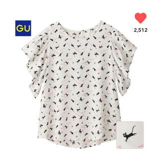 ジーユー(GU)のGU セーラームーンコラボ Wプリントブラウス(シャツ/ブラウス(半袖/袖なし))