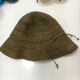 ムジルシリョウヒン(MUJI (無印良品))の無印  ラフィア  麦わら帽子(麦わら帽子/ストローハット)