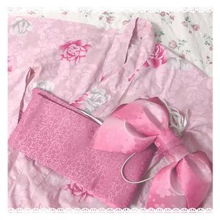 シマムラ(しまむら)のピンク 浴衣セット ❤︎ 美品(1箇所訳あり)(浴衣)