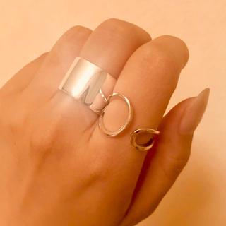 バーナー(Burner)のシルバー ワイヤー変形リング 13号(調節可能)(リング(指輪))