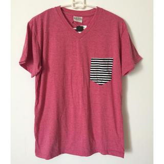 シマムラ(しまむら)のしまむら 半袖Tシャツ ピンク M(Tシャツ/カットソー(半袖/袖なし))