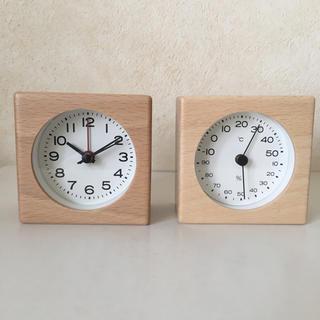 MUJI (無印良品) - 無印良品 ブナ材時計&ブナ材温室計