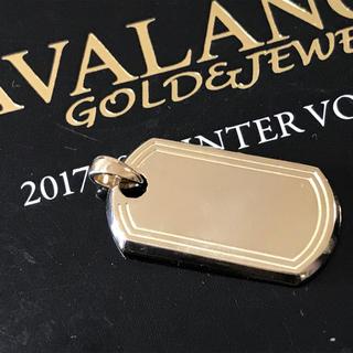 アヴァランチ(AVALANCHE)のAVALANCHE K10K 10金ドッグタグ IDタグ アバランチアヴァランチ(ネックレス)