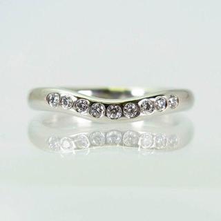 ティファニー(Tiffany & Co.)のティファニー/Pt950 カーブドバンド ダイヤ9ピースリング[f211-6](リング(指輪))