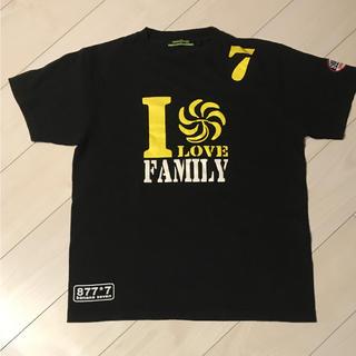 バナナセブン(877*7(BANANA SEVEN))の値下げ!美品!BANANA SEVEN  ブラックTシャツ(Tシャツ/カットソー(半袖/袖なし))