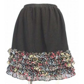 ローリーズファーム(LOWRYS FARM)のベリーダンス レッスン用 フリル切り替えスカート 他一点(ミニスカート)