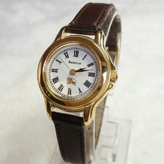 35519d5ac1 バーバリー(BURBERRY)のバーバリー腕時計 ベルト天然革交換(Maruman 等)レディース