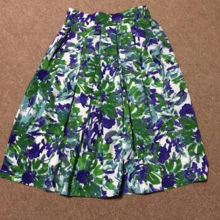 タグ付き新品 膝丈 スカート 花柄 JETSET