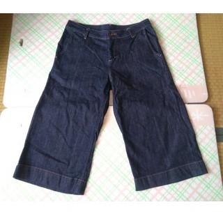 ムジルシリョウヒン(MUJI (無印良品))の美品 無印良品 ガチョウパンツ パンツ 黒 67 綿98%(ハーフパンツ)